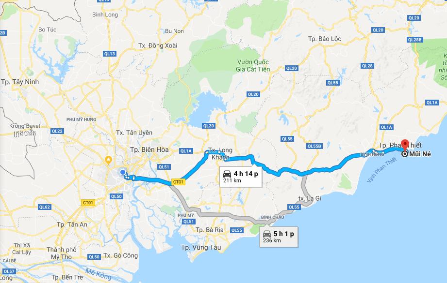 Bản đồ du Lịch nghỉ dưỡng tại Thành Phố Phan Thiết từ A – Z