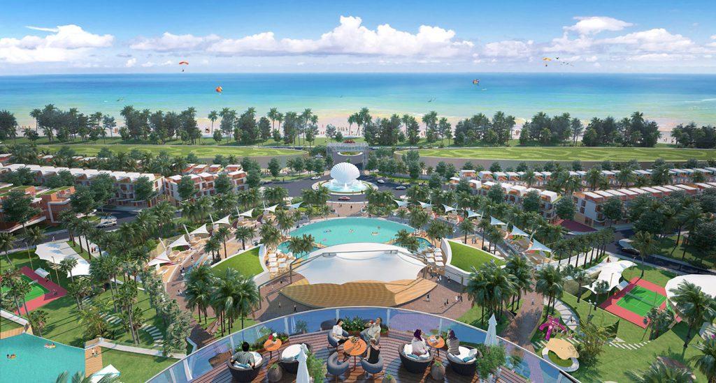 Khu dự án Long Hải Riverside City Bà Rịa dự án qui mô hồ bơi tràn
